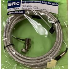 BRC 5D5M  Car Mobile COAXIAL CABLE ASSEMBLIES SO239 PL259 for Antenna Mount