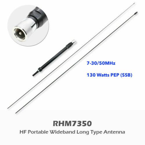 Harvest RHM-7350 CB HF 7-30MHz/50MHz Wideband Portable Mobile Antenna