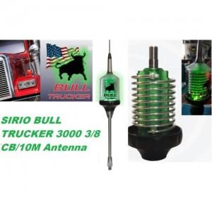 Sirio Bull Trucker 3000 LED 3/8 CB & 10M 3000 Watts Mobile Antenna