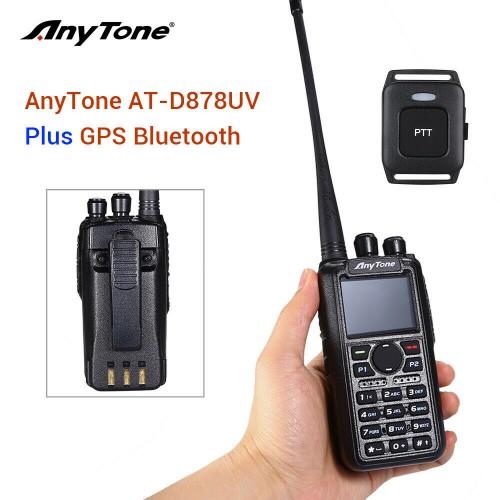 AnyTone AT-D878UV PLUS Bluetooth W/GPS and FREE Programming Kit