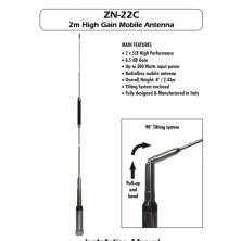 Sirio ZN-22C High Gain 2 Meter Radialess Mobile Antenna - 300Watts 6.5 Db