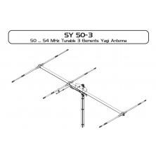 Sirio SY 50-3  50-54Mhz 6 meter Tunable 3 elements Yagi Antenna