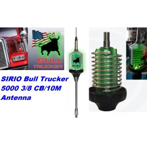 Sirio Bull Trucker 5000 LED 3/8 CB & 10M 5000 Watts Mobile Antenna